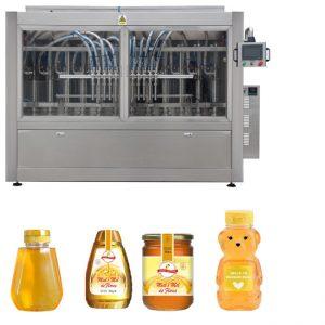 Otomatiya Servo Piston Type Sauce Honey Jam High Viscosity Liquid Filling Capping Labelling Machine Labelling